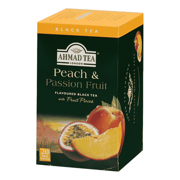 Ahmad Tea Peach Passion Fruit 20 Bags / Seftali ve Passion Fruit Aromali Cay