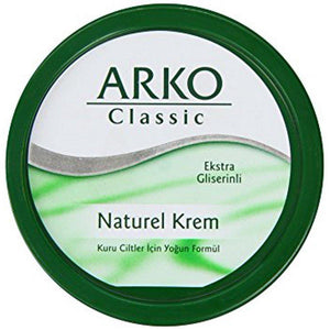 Arko Classic Natural Cream 300 ml / Arko Nemlendirici Bakim Kremi - Turkish Food Basket