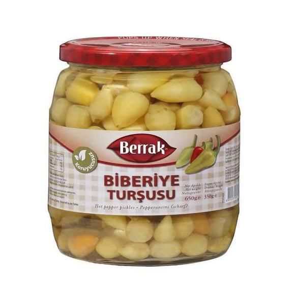 berrak yellow baby hot pepper sari bebek aci biber turk yemek gida turkish food online shopping delivery alisveris