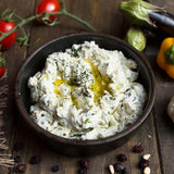 thick yoghurt with garlic and dill side dish haydari meze turkish catering food online shopping delivery