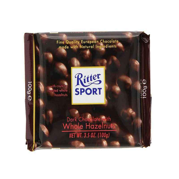 Ritter Sport Dark Chocolate with Whole Hazelnuts / Findikli Bitter Cikolata