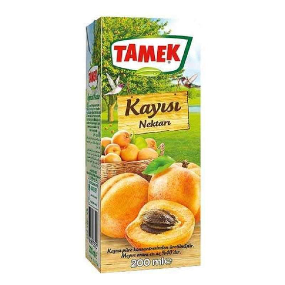 tamek apricot nectar kayisili meyve suyu fruit juice meyve suyu beverages turkish food basket turk yemek sepeti online online shopping delivery internetten alisveris eve teslimat