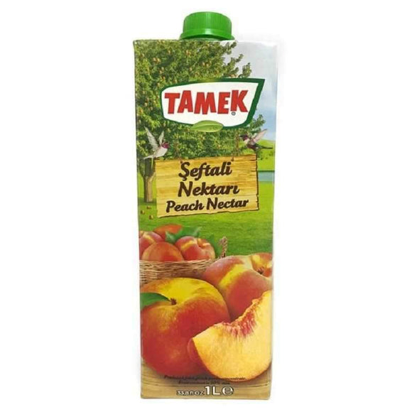 tamek peach nectar seftali nektari suyu fruit juice meyve suyu beverages turkish food basket turk yemek sepeti online online shopping delivery internetten alisveris eve teslimat