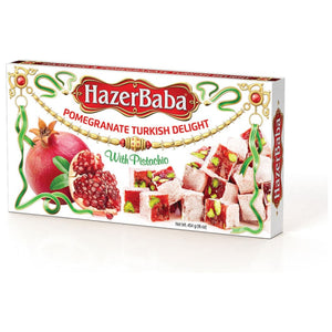 Hazer Baba Pomegranate Turkish Delight with Pistachio 454 Gr