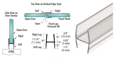 "'H' Wipe with Soft Legs Multipurpose for 3/8"" Glass"