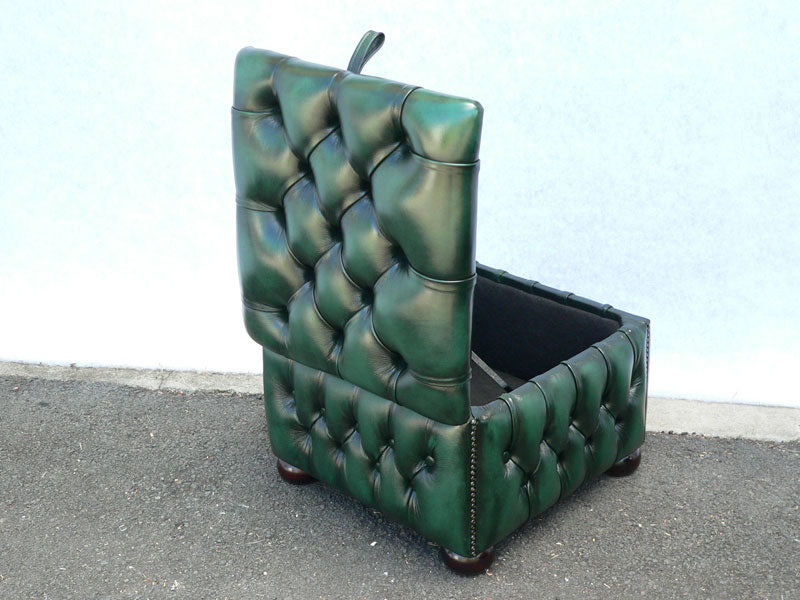 Box Poufee Hinged Footstool