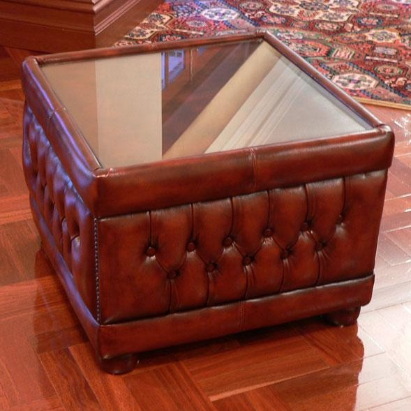 Glass Table Footstool