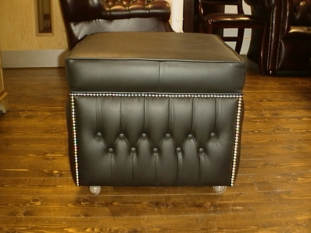 Box Poufee Cushion Top Footstool