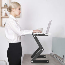 Load image into Gallery viewer, Adjustable Ergonomic Portable Aluminum Laptop Desk (Mouse Pad Included)
