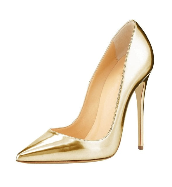8846e415c5c2 Big Sale Sexy Pointed Toe High Heel Pumps Patente Leather Thin Heels ...