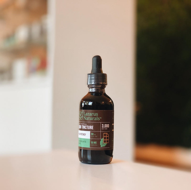 Mint Chocolate Tincture 750mg, 3000mg or 6000mg Lazarus Naturals