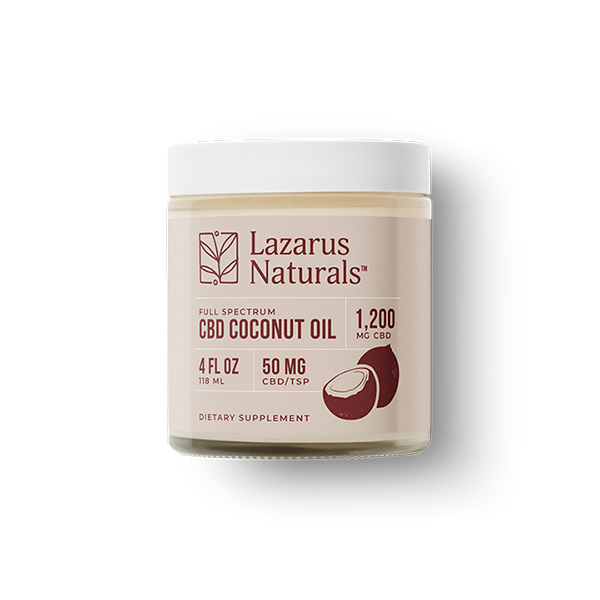 1200mg CBD infused Coconut Oil Lazarus Naturals