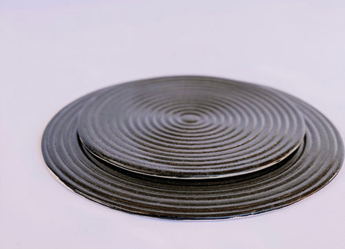 Graphite Ondas Serving Plates Set