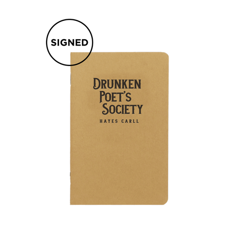 Drunken Poets Society Notebook (SIGNED)