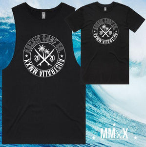 ASC MMXX Front Palm Print Black/White Tee or Muscle