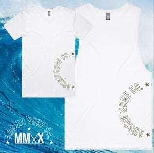 ASC MMXX Side Print White/Khaki Tee or Muscle