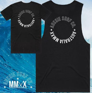 ASC MMXX Circle Print Charcoal/White Tee or Muscle