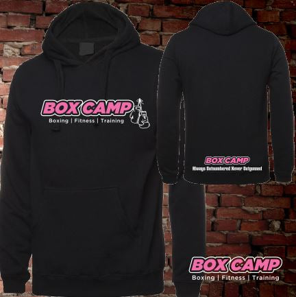BOX CAMP -  T-Shirt Hoodie - Lightweight - Ladies - Black