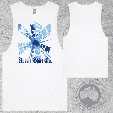 Aussie Shirt Co - Muscle Tee - Mens - Blue