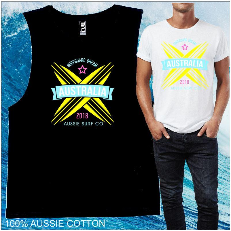 Aussie Surf Co - Surfboard Dream - Black or White