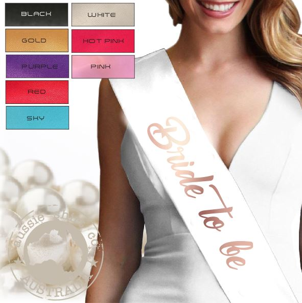Bride To Be Party Sash