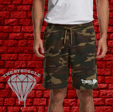 THE STRUGGLE -  Mens - AS Camo Shorts - Left Leg Print