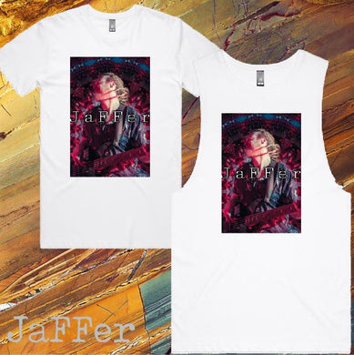 JaFFer - T-Shirt or Tank - Mens/Womens - White - J