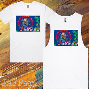 JaFFer - T-Shirt or Tank - Mens/Womens - White - F