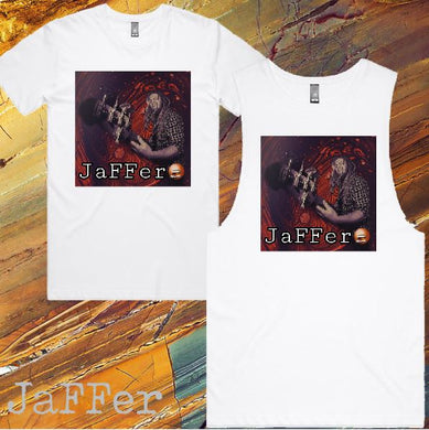 JaFFer - T-Shirt or Tank - Mens/Womens - White - Fe