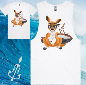 Aussie Surf Co - Muscle or T-Shirt - Surf Kangaroo