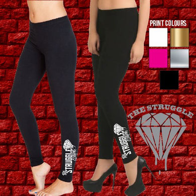 The Struggle - Full Length Leggings - Ladies - Black