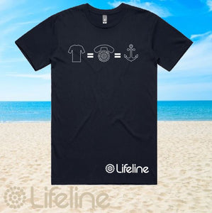 Lifeline - T-Shirt - Mens - Navy