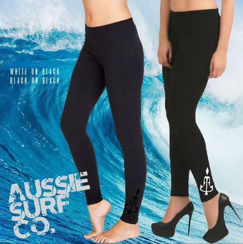 Aussie Surf Co - Full Length Leggings - Ladies - Black