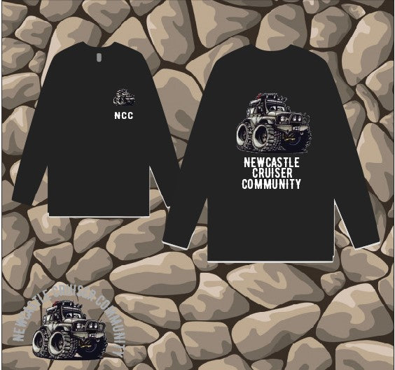 Newcastle Cruiser Community  - Long Sleeve T-Shirt - Ladies - Black