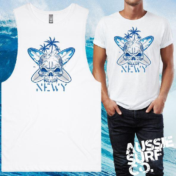 Newy Skull Tee or Muscle