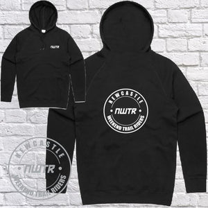 NWTR - Newcastle Weekend Trail Riders - NWTR Logo - Black Hoodie Midweight - Mens