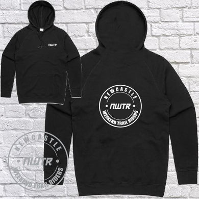 NWTR - Newcastle Weekend Trail Riders - NWTR Logo - Black Hoodie Midweight - Mens - Customized