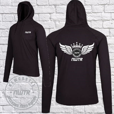 NWTR - Newcastle Weekend Trail Riders - Members - T-Shirt Hoodie - Lightweight  - Black