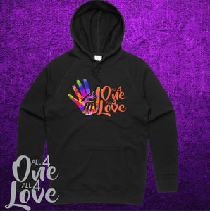 ALL 4 ONE ALL 4 LOVE - Hoodie Midweight - Adult - Black