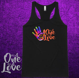 ALL 4 ONE ALL 4 LOVE - Racerback - Ladies  - Black