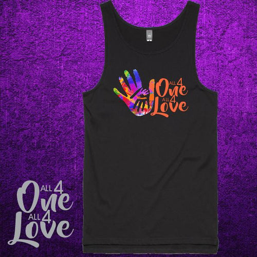 ALL 4 ONE ALL 4 LOVE - Tank - Mens - Black