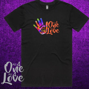 ALL 4 ONE ALL 4 LOVE - Mens - T-Shirt  - Black or White