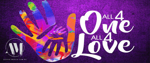 ALL 4 ONE ALL 4 LOVE - Bumper Sticker