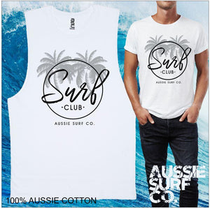 AUSSIE SURF CO Surf Club Mens T-Shirt or Muscle Tee