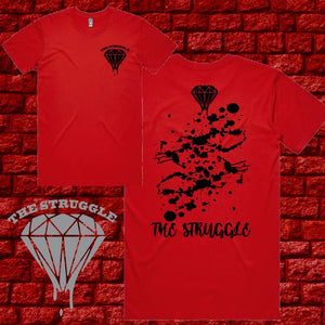 THE STRUGGLE - T-Shirt - Red Splash