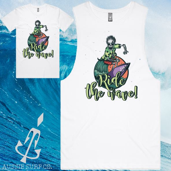 Aussie Surf Co - Muscle or T-Shirt - Ride the Wave