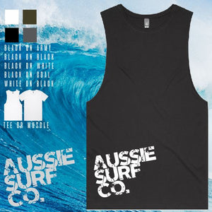 Aussie Surf Co - Muscle or T-Shirt - AUSSIE SURF CO - Mens