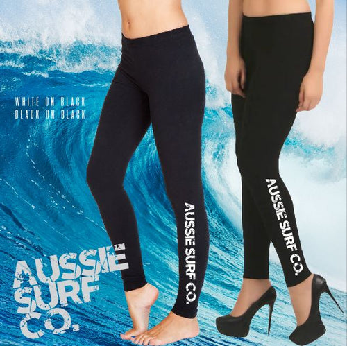 Aussie Surf Co - Full Length Leggings - ASC - Ladies - Black