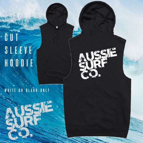 Aussie Surf Co - Hoodie Sleeveless - Adult - AUS - Black