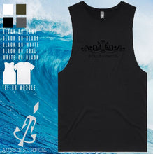 Load image into Gallery viewer, Aussie Surf Co - Muscle or T-Shirt - Scroll- Black Print